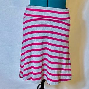 Mossimo XS A line skirt stripes pink gray